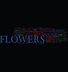 Flowers as a metaphor for life text background vector