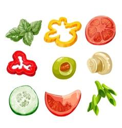 Food ingredients Series 2 - bell pepper olive vector
