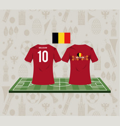 Football belgium sport wear tshirt vector