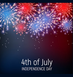 fourth of july independence day of the united vector image