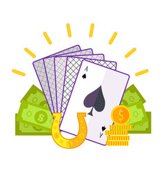 gambling concept flat style vector image