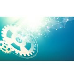 Gear wheells vector image vector image
