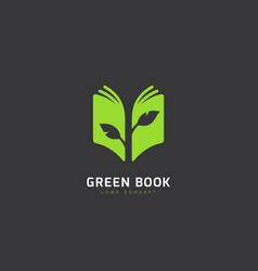 green book logo vector image