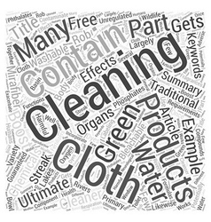 Green Cleaning Gets a Boost with the Ultimate vector image