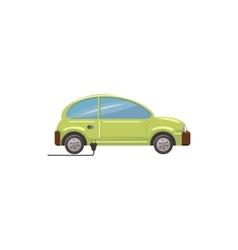 Green electric car icon cartoon style vector image