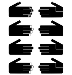 Hand of woman and man vector image