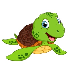 Happy sea turtle cartoon vector