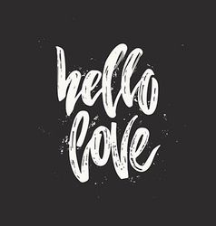 Hello Love Lettering vector