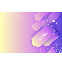holographic dynamic banner in paper cut style vector image