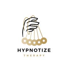 Hypnotize therapy hypnotherapy logo icon vector