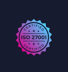 Iso 27001 information security standard vector