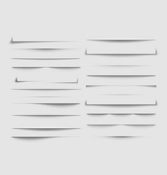 isolated shadow dividers shadows discarded by vector image