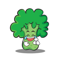 Joy broccoli chracter cartoon style vector