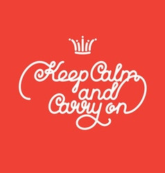 keep calm and carry vector image