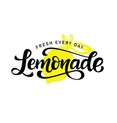 Lemonade logo badge calligraphy logotype vector