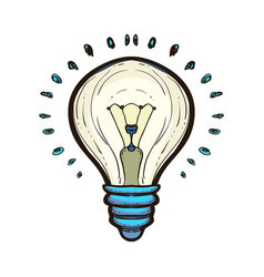 light bulb with shining isolated concepts ideas vector image