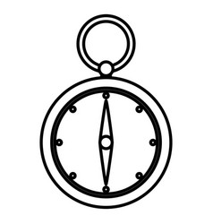 line compass aventure object to geography vector image