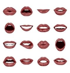 lips set vector image