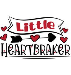 little heartbraker heart valentines day vector image