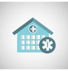 medicine sign hospital building icon vector image