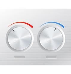 Metal knob vector image