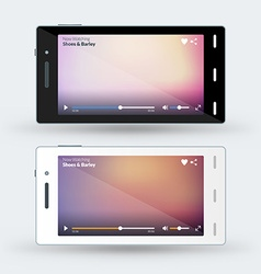 Modern smartphone with video player on the screen vector image