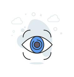 Monitoring icon color icon concept vector