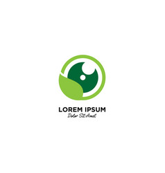 Nature photography logo icon vector