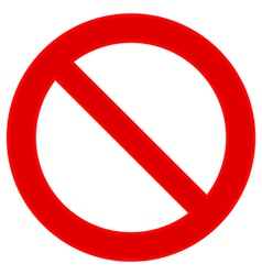 No sign vector image