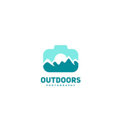 Outdoors photography logo vector