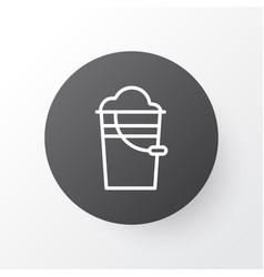Pail icon symbol premium quality isolated bucket vector