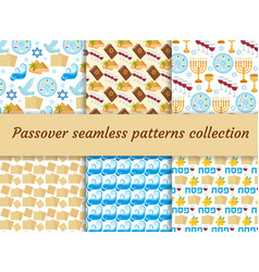 Passover seamless pattern collection pesach vector