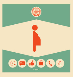 Pregnant woman icon vector