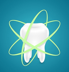 Protected from all sides healthy teeth vector