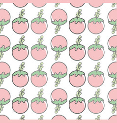 Red healthy tomato vegetable icon background vector