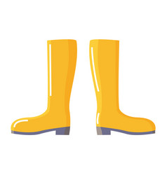 rubber wellingtons or gumboot for water protection vector image