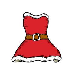 santa clothes on white vector image