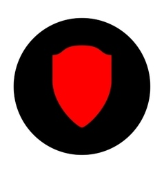 Shield sign Red icon vector image
