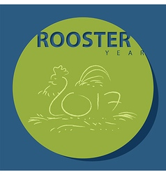 Sign of rooster year for chinese new year 2017 vector
