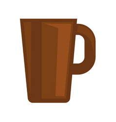 Simple brown cup vector