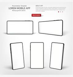 smart phone template presentation interface vector image