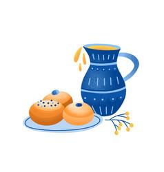 sufganiyah jewish jelly vector image