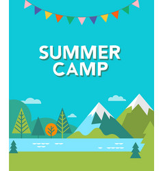 Summer camp background vector