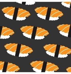 sushi pattern on dark background flat style vector image