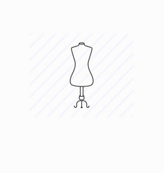 tailor dummy line icon atelier equipment vector image