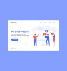 team build website create landing web page vector image