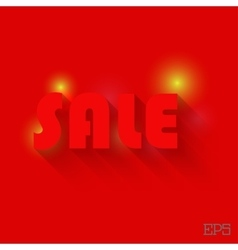 The inscription SALE on a red background paper vector image