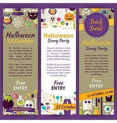 Trick or Treat Halloween Party Invitation Template vector