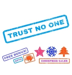 Trust No One Rubber Stamp vector