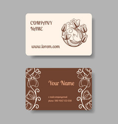 Vintage business card collection vector